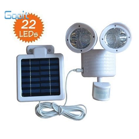 22 led wall mounted solar pir motion sensor light outdoor