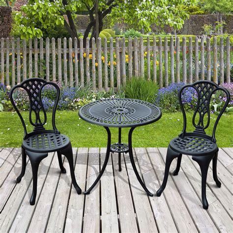 patio bistro set aluminium cafe bistro set garden furniture table and chair
