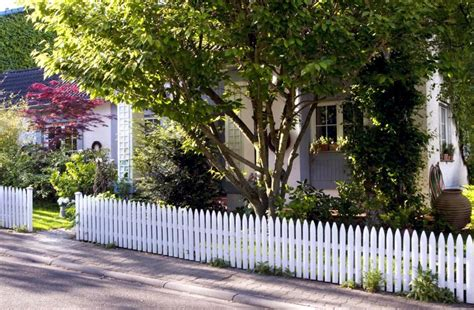 front yard  white picket fence  trees interior