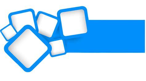 bureau transparent design blue square vector design concept model