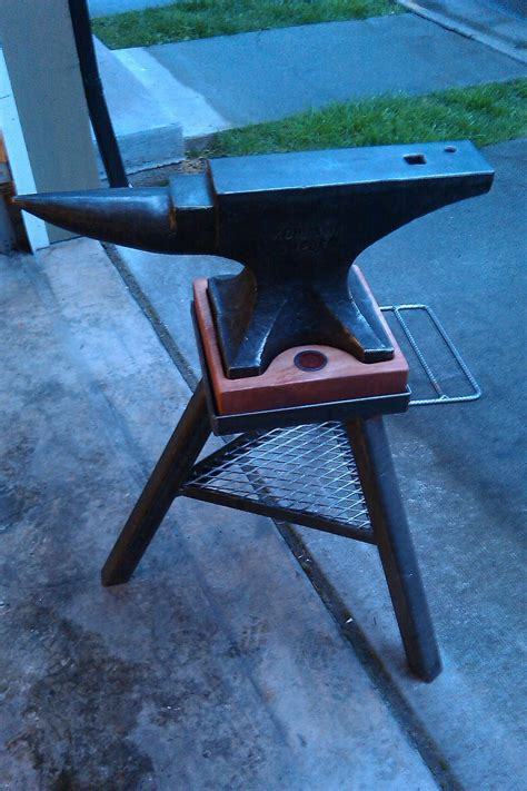 square metal tubing dwarven anvil stand tripod by autumndogforge on deviantart