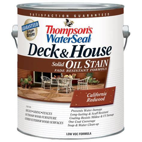 thompsons water seal deck house oil stain solid  menards
