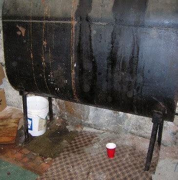 Oil Tank Spill in Home