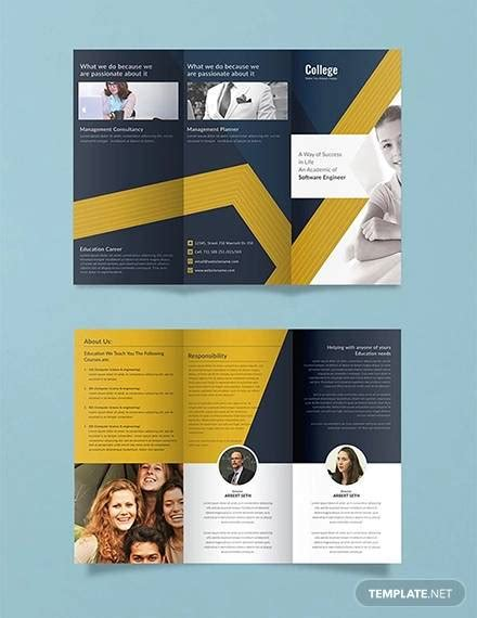 college brochure templates  ai psd ms word