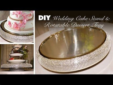 diy bling wedding cake stand rotatable dessert tray time