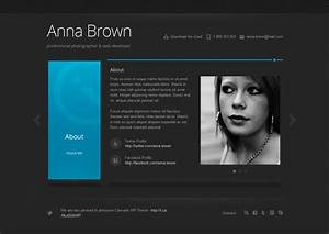 personal profile design templates - cascade responsive personal vcard template by