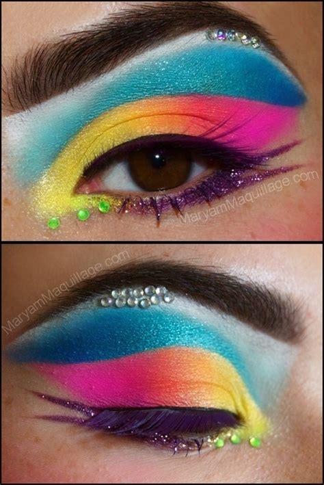fantastic neon makeup  pretty designs