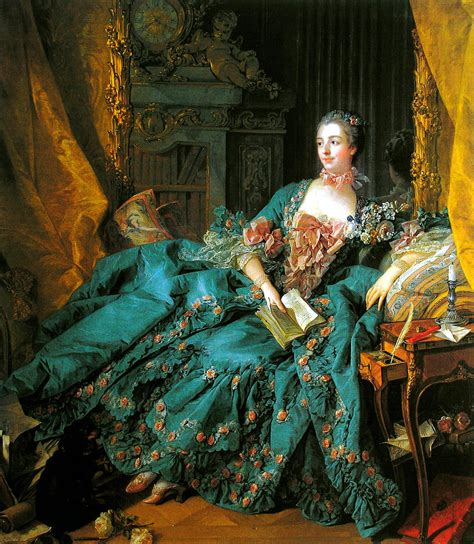 fran 231 ois boucher portrait de la marquise de pompadour 1756