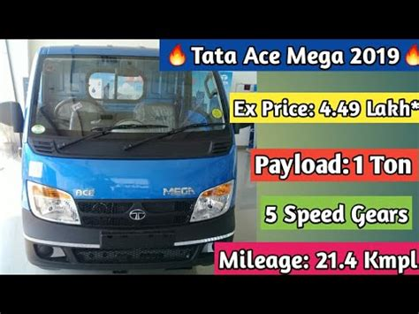 Tata Ace 2019 by Tata Ace Mega 2019 Detail Review Specification