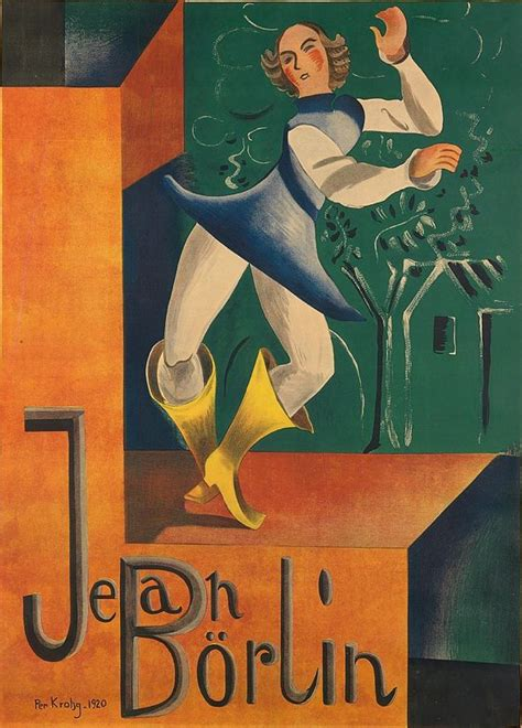 Per Krohg 1889 1965 1920 Jean Börlin Principle Dancer