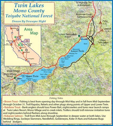 Alpine Boat Basin Trail Map by Lake Basin My California Fishing Boat List