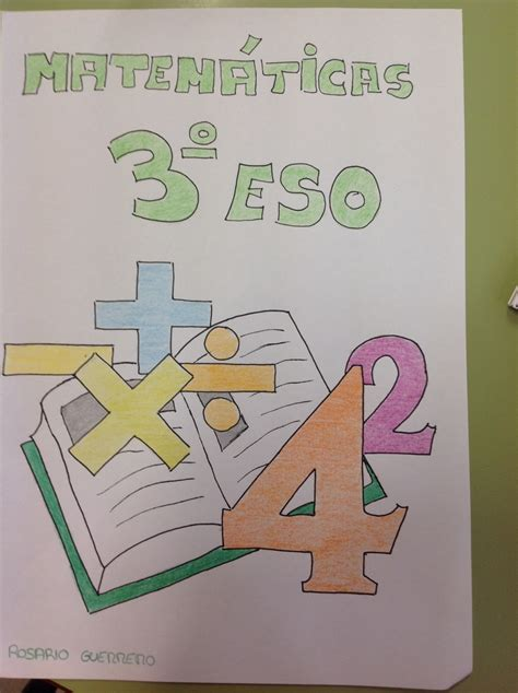 concurso de portadas de cuadernos de matematicas  de eso