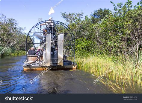 Everglades Airboat Tours South Florida by Airboat Tour Evergladesflorida Stock Photo 172716956