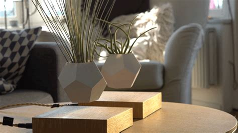 innovative planters let you grow a levitating garden that rotates in mid air my modern met