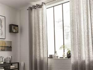 Poser Des Rideaux : rideau voilage et vitrage leroy merlin ~ Nature-et-papiers.com Idées de Décoration