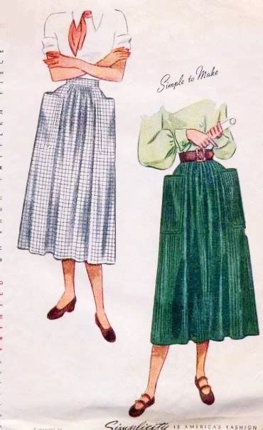 stylish dirndl skirt pattern simplicity  huge