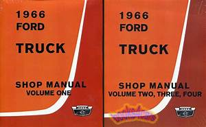 Shop Manual Ford Truck Service Repair 1966 Book F100 F150