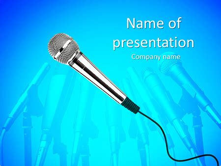 christmas microphone template stage microphone powerpoint template backgrounds id