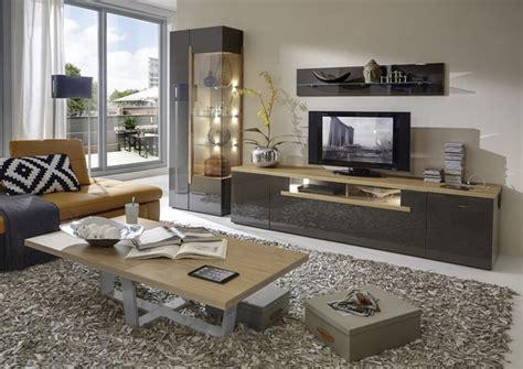 Wohnzimmer Eiche Modern by Moderne Wohnzimmer Schrankwand