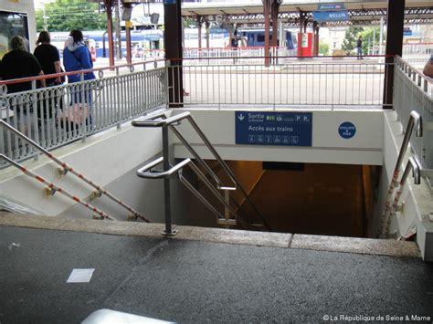 le bureau melun melun l 39 accessibilité de la gare sncf toujours en