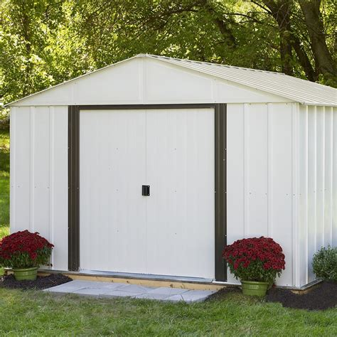 arrow 10x12 metal shed manual arrow storage 174 ar1012 10 x 12 arlington shed