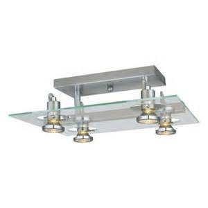 eglo focus 4 light matte nickel ceiling semi flush mount