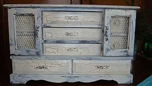 Peinture A Effet Pour Meuble : meuble repeint avec peinture effet craquel super d co ~ Melissatoandfro.com Idées de Décoration