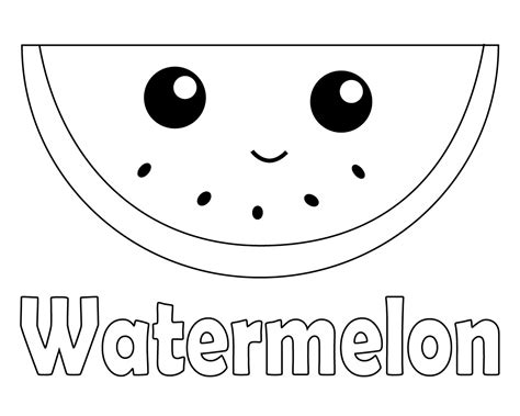 Watermelon Coloring Pages To Print Online