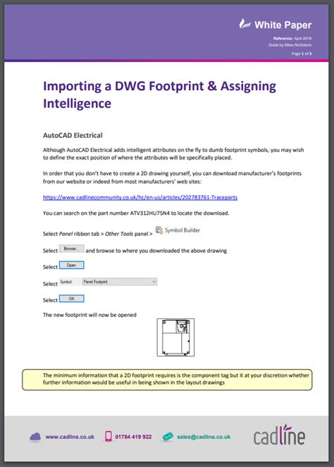 autocad electrical 2018 importing a dwg footprint assigning intelligence cadline community