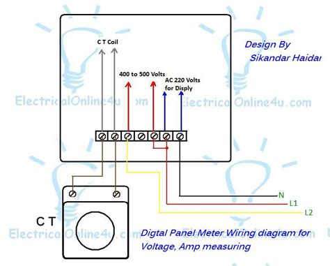 Wire Diagram For Meter by Digital Multi Voltmeter Ammeter Hz Wiring With Diagram