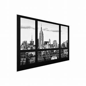 Glasbild Schwarz Weiß : glasbild fensterblick new york skyline schwarz weiss ~ A.2002-acura-tl-radio.info Haus und Dekorationen
