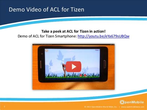 openmobile acl for tizen android apps on tizen