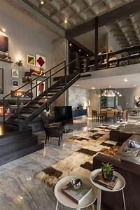 Interieur Style Industriel : mille et une id es pour le salon style industriel en 44 photos ~ Melissatoandfro.com Idées de Décoration