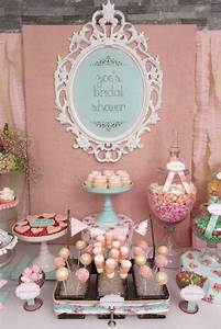 vintage shabby chic bridal wedding shower party ideas With vintage wedding shower