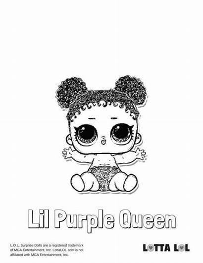 Lil Queen Purple Coloring Lol Doll Surprise
