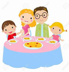 Lunch clipart family lunch - Pencil and in color lunch ...