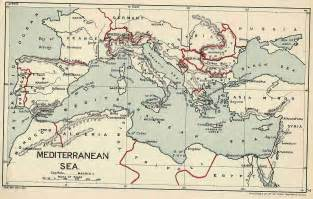 Ancient Mediterranean Sea Map