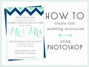 how to make this wedding invitation in photoshop With diy wedding invitations photoshop