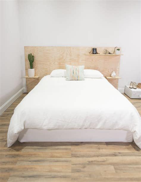 Diy Bett Kopfteil 8 plywood headboard bed diy ideas poppytalk