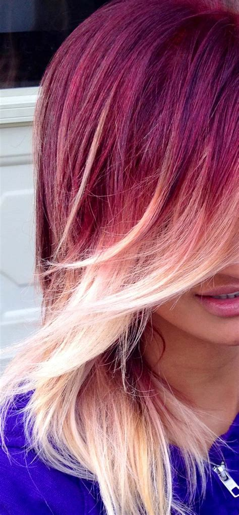 Red And Blonde Ombre Hair Hair Colors Ideas