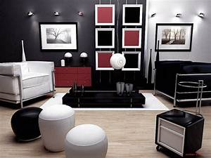 Black red and white livingroom interior designs for your for Red and black room designs