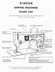 Singer Stylist 466 Sewing Machine Service Repair Manual