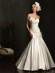 flattering mermaid sweetheart ivory ruched satin wedding With flattering wedding dresses
