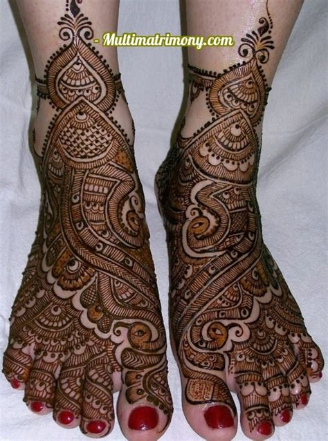 bridal mehandi designs  foot multimatrimonycom