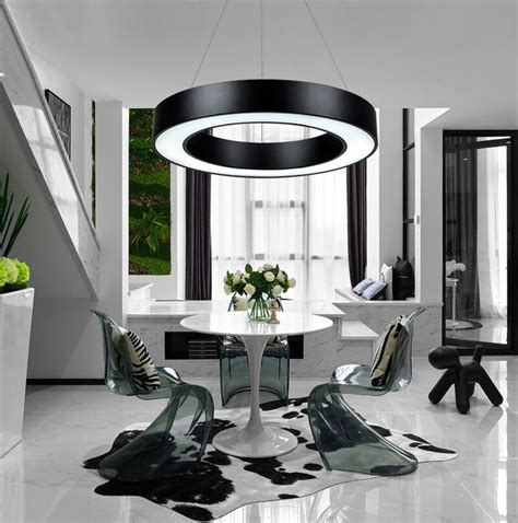office chandelier lighting modern office led pendant lights circle suspension