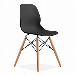 Chaise eiffel contemporaine noire chaises de cuisine for Deco cuisine avec chaise contemporaine