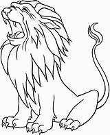 Coloring Lion Pages Lions Popular sketch template