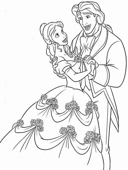 Beast Beauty Animation Coloring Pages Drawings Printable