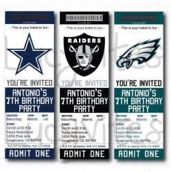 Football Ticket Baby Shower Invitations