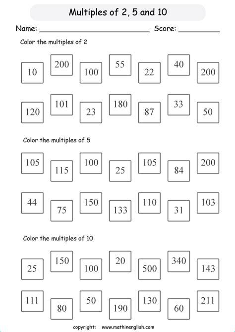 find  multiples  color  math multiples worksheet